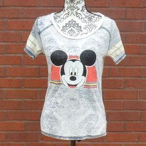 Disney Semi-Sheer Burnout Mickey T-shirt XS